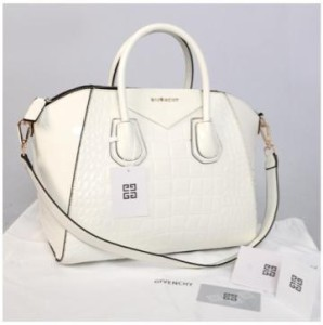 Givenchy antigona croco super 1210G(White glossi) ~ 33x18x28 idr@355rb