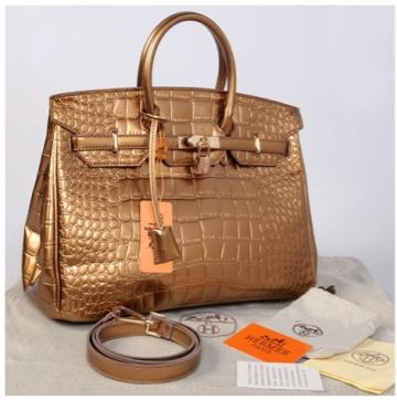 HB croco embosed semprem 1410(BronZe) ~ 35x18x25 idr@380rb