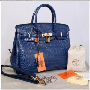 HB croco embosed semprem 1412(D'Blue) ~ 30x17x23