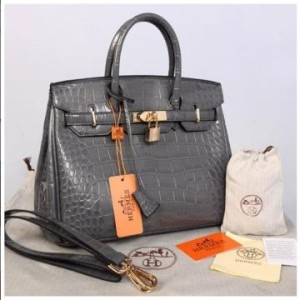 HB croco embosed semprem 1412(D'Gray) ~ 30x17x23