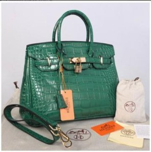 HB croco embosed semprem 1412(Green) ~ 30x17x23
