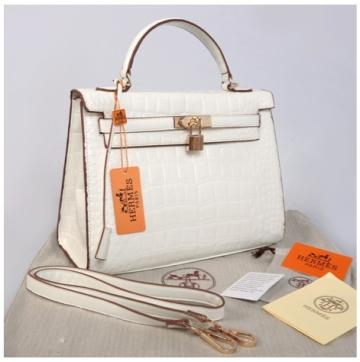 Hr Kelly 1310 Croco Embosed Semprem(White)~32x12x22 idr 380