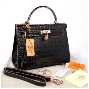 Hr Kelly 1310 croco Embosed Sprem(Black)~32x12x22 idr 380