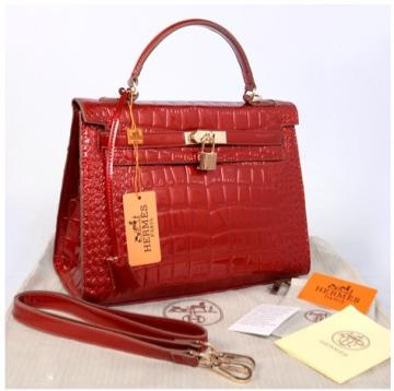 Hr Kelly 1310 croco Embosed Sprem(Brigthred)~32x12x22