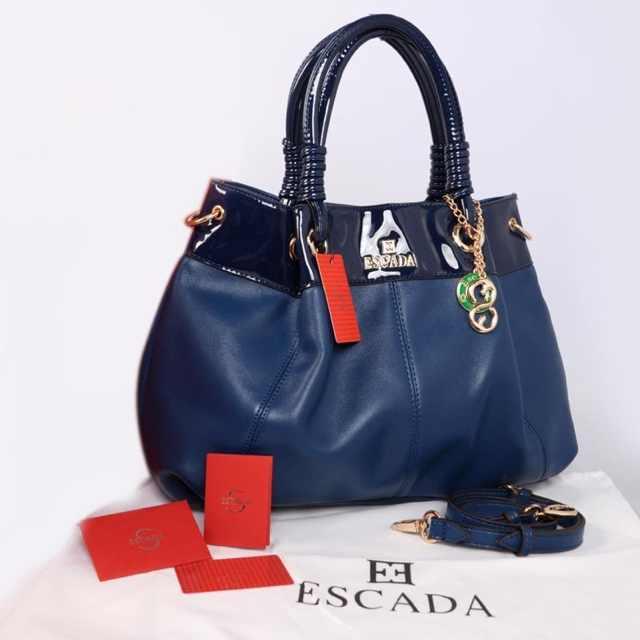 New ESCADA super klt & glossi 169(D'Blue) ~ 38x13x30 idr@325rb