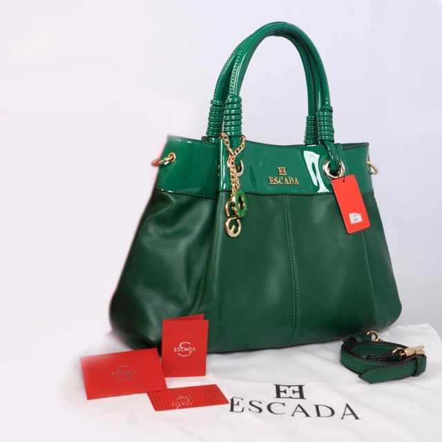 New ESCADA super klt & glossi 169(D'Green) ~ 38x13x30 idr@325rb