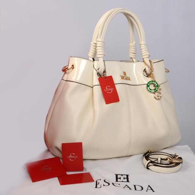 New ESCADA super klt & glossi 169(White BeiGe) ~ 38x13x30 idr@325rb
