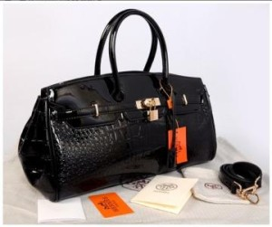 New Hermes long birkin croco glossi semprem 1415-1(Black) ~ 40x17x23 idr@380rb