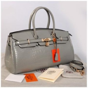 New Hermes long birkin croco glossi semprem 1415-1(Gray) ~ 40x17x23 idr@380rb