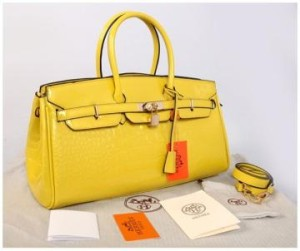 New Hermes long birkin croco glossi semprem 1415-1(Yellow) ~ 40x17x23 idr@380rb