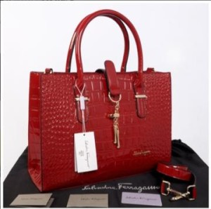 New Salvatore Ferragamo croco semprem 3307(Merah) ~ 39x11x27 idr@400rb