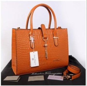 New Salvatore Ferragamo croco semprem 3307(Oren) ~ 39x11x27 idr@400rb