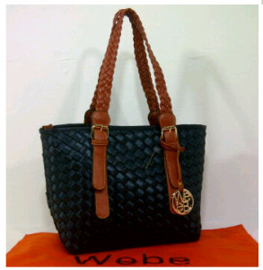 New Webe kepang polyester 0123(Blue Black) ~ 27x17x23 idr@325rb