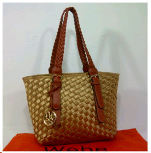 New Webe kepang polyester 0123(Bronze) ~ 27x17x23 idr@325rb