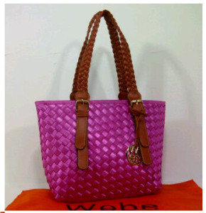 New Webe kepang polyester 0123(Pink) ~ 27x17x23 idr@325rb