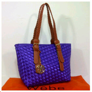 New Webe kepang polyester 0123(Purple) ~ 27x17x23 idr@325rb