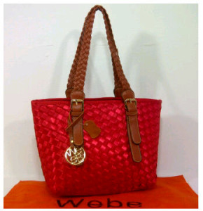 New Webe kepang polyester 0123(Red) ~ 27x17x23 idr@325rb