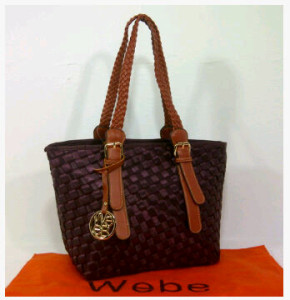 New Webe kepang polyester 0123(Red Coffee) ~ 27x17x23 idr@325rb
