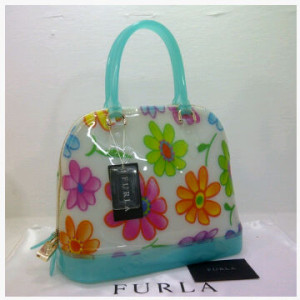 SEMOR Furla Alma Jelly flower(BB Blue) ~ 32x15x25 idr@380rb