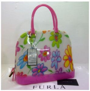SEMOR Furla Alma Jelly flower(BB Pink) ~ 32x15x25 idr@380rb