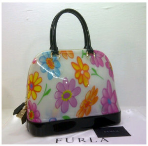 SEMOR Furla Alma Jelly flower(Black) ~ 32x15x25 idr@380rb