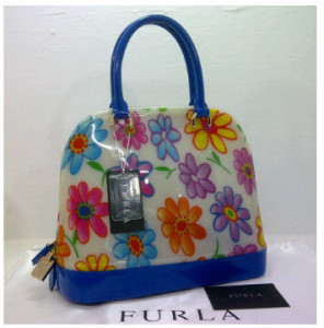 SEMOR Furla Alma Jelly flower(Blue) ~ 32x15x25 idr@380rb
