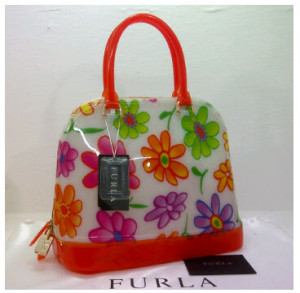 SEMOR Furla Alma Jelly flower(Orange) ~ 32x15x25 idr@380rb