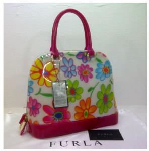 SEMOR Furla Alma Jelly flower(Pink Fanta) ~ 32x15x25 idr@380rb