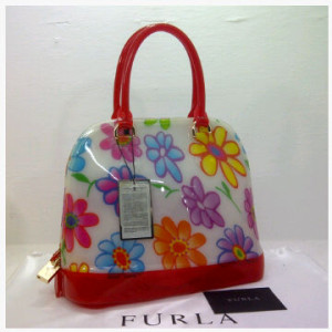 SEMOR Furla Alma Jelly flower(Red) ~ 32x15x25 idr@380rb