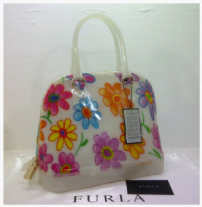 SEMOR Furla Alma Jelly flower(White Coconut) ~ 32x15x25 idr@380rb