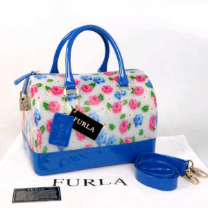 Furla Jelly milk Flower(Blue) ~ 28x17x19 idr@355rb