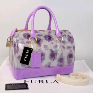 Furla Jelly milk Flower(L'Purple) ~ 28x17x19 idr@355rb