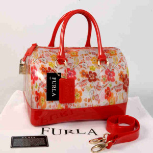 Furla Jelly milk Flower(Red) ~ 28x17x19 idr@355rb