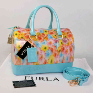 Furla Jelly milk FlowerS(BB Blue) ~ 28x17x19 idr@355rb