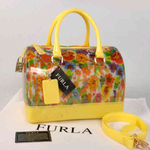 Furla Jelly milk FlowerS(Yellow) ~ 28x17x19 idr@355rb