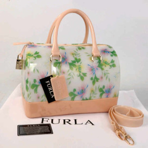 Furla Jelly milk Flower(Salem) ~ 28x17x19 idr@355rb