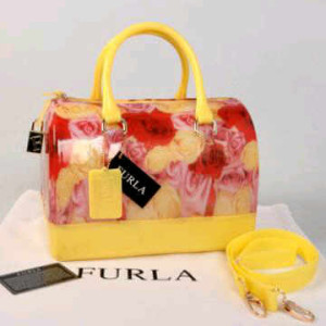 Furla Jelly milk Flower(Yellow) ~ 28x17x19 idr@355rb