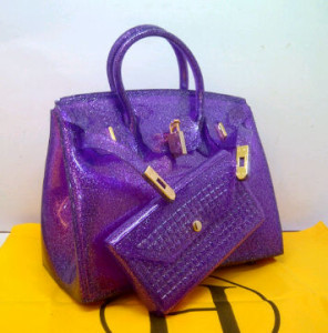HB Jelly gliter SEMOR set(purple) ~ 30x15x23 idr@355rb