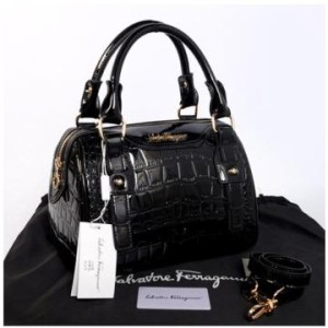New Salvatore Ferragamo croco semi speedy semprem 3309(Black) ~ 28x18x18 idr@355rb