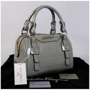 New Salvatore Ferragamo croco semi speedy semprem 3309(L'Gray) ~ 28x18x18 idr@355rb