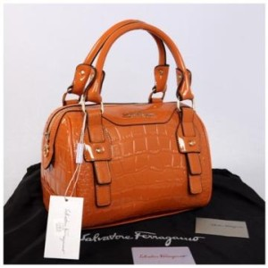 New Salvatore Ferragamo croco semi speedy semprem 3309(Orange) ~ 28x18x18 idr@355rb