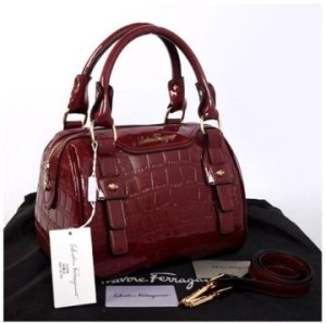 New Salvatore Ferragamo croco semi speedy semprem 3309(PurplishRed) ~ 28x18x18 idr@355rb