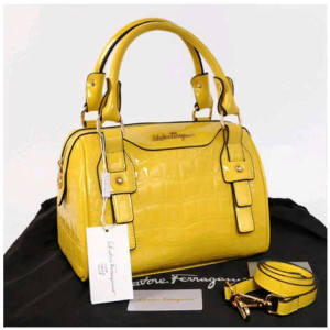 New Salvatore Ferragamo croco semi speedy semprem 3309(Yellow) ~ 28x18x18 idr@355rb