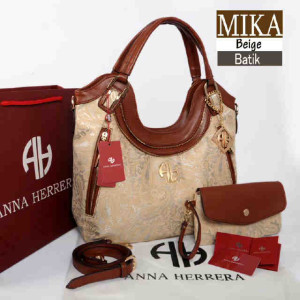 Bag Anna Herrera MIKA Batik set 710 uk~33x11x24 @350 Beige