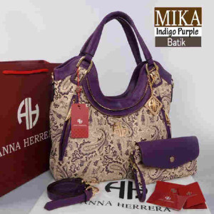 Bag Anna Herrera MIKA Batik set 710 uk~33x11x24 @350 Indigo Purple