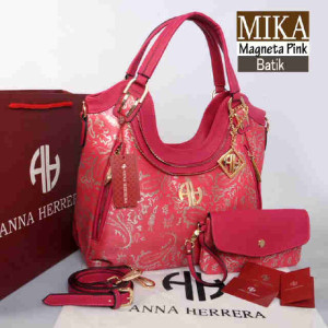 Bag Anna Herrera MIKA Batik set 710 uk~33x11x24 @350 Magneta Pink