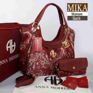 Bag Anna Herrera MIKA Batik set 710 uk~33x11x24 Maroon