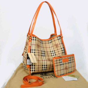 Burberry semprem 1062(Apricot grid-Orange) ~ 30x18x32 idr@380rb