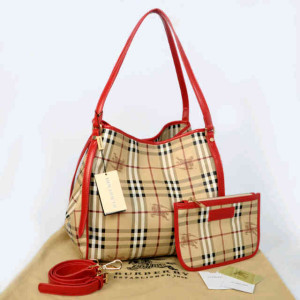 Burberry semprem 1062(Apricot grid-Red) ~ 30x18x32 idr@380rb