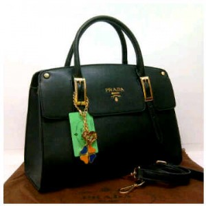1390'Black ~ 35x12x25 New super prada milano office classic(1)